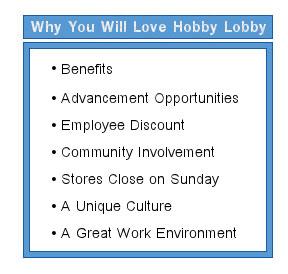 hobby lobby careers